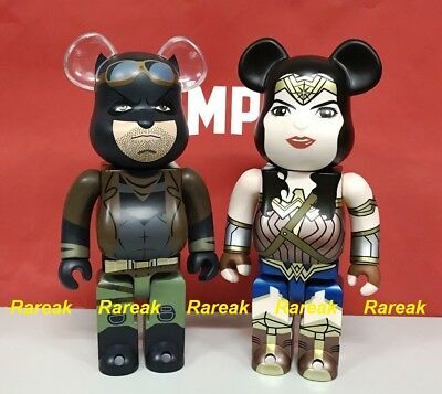 Medicom Be@rbrick DC Wonder Woman /& Knightmare Batman 400/% DOJ Bearbrick Set 2pc