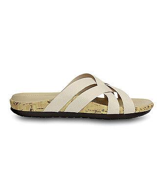 New Women's Crocs Edie Stretch Sandals Shoes Size 9 Beige
