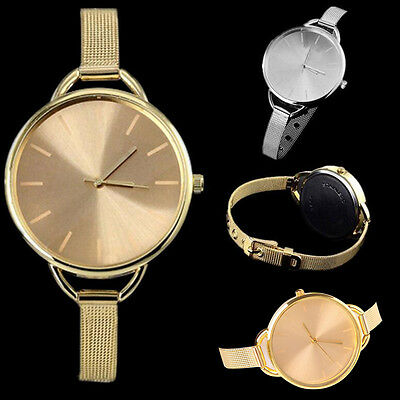 Hot Casual Girl Women's Round Dial Quartz Stainless Steel Bracelet Wrist Watches