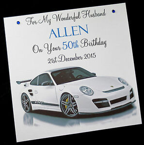 Image Is Loading Personalised Handmade Birthday Card 039 PORSCHE 911