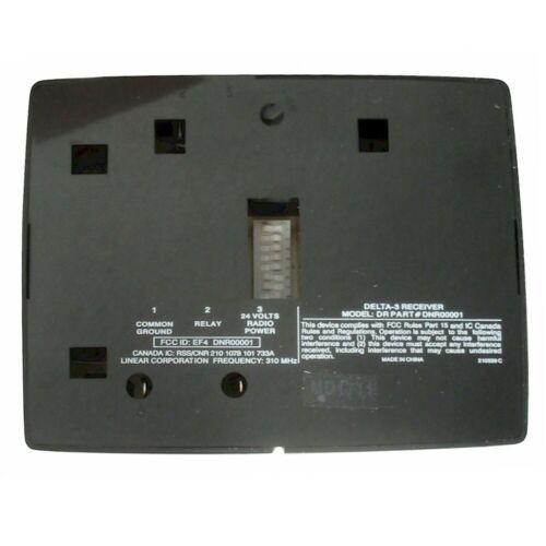 Linéaire Delta 3 DR3A 24-Volt portail porte de garage récepteur radio DNR00001 DR