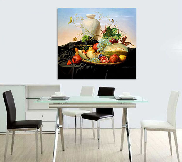 3D Schwarzes Tuch Obst Vase 94  Fototapeten Wandbild BildTapete AJSTORE DE Lemon