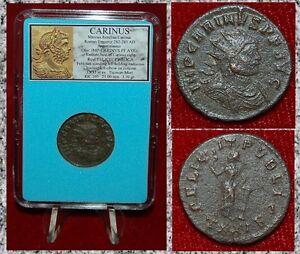 Ancient-Roman-Empire-Coin-CARINUS-Felicitas-And-Column-On-Reverse-Antoninianus
