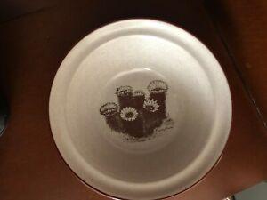 "Noritake Stoneware Cereal Bowl 6 5/8"" Desert Flowers Hedgehog Cactus"