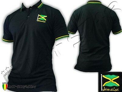 Polo Shirt Reggae Roots Bob Marley Rastafari Jamaica Jamaique Drapeau Brodé | eBay
