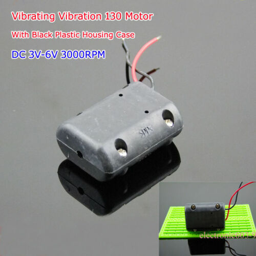 DC 3V-6V 3100RPM 130 Motor Vibrating Vibration Motor for Massage DIY Black Shell