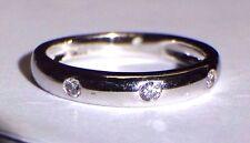 New Fine .10CT F VS Diamond 18K White Gold Ring Band Size 7
