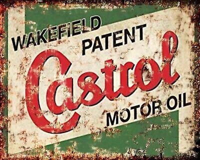 CASTROL GTX OIL CAR GARAGE WORKSHOP MOTOR MECHANIC GARAGE METAL SIGN PLAQUE 588