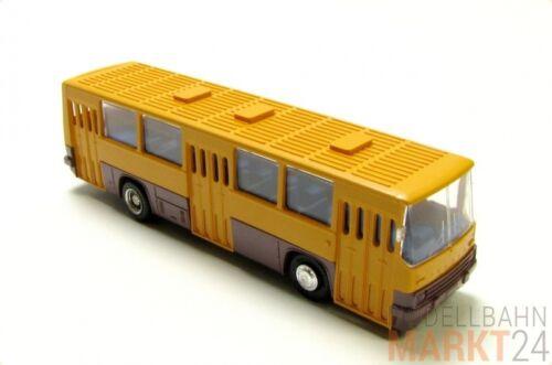 Ses Ikarus 260 transporte urbano autobús bloque del este-colores naranja oscuro color marrón-rojizo azul h0 1:87