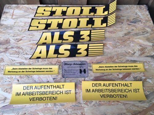 STOLL Frontlader ALS 3 Aufklebersatz Aufkleber Frontladerschwinge Traktor