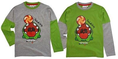 Cut the Rope Shirt langarm 98 104 110 116 122 128 Langarmshirt Pullover Om Nom
