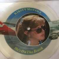 """KIRSTY MacCOLL He's On The Beach  UK 7"""" VINYL PICTURE DISC EXCELLENT CONDITION"""