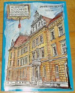 Regensburg-1993-94-alter-Jahresbericht-Albrecht-Altdorfer-Gymnasium-Geschenk-Abi