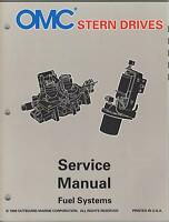 1997 Omc Stern Drives Fuel Systems P/n 507284 Service Manual (876)