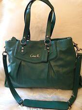 NEW COACH ASHLEY GREEN LEATHER CARRYALL  #F19243  NWOT PURSE Handbag