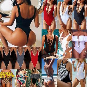 Sexy-Hot-Women-Retro-Monokini-One-Piece-Push-up-Bikini-Beach-Swimsuit-Swimwear
