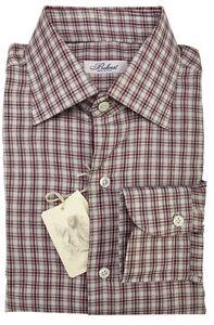BELVEST-by-Finamore-Napoli-Shirt-Cashmere-Cotton-Plaids-amp-Checks-15-1-2-39-Reg