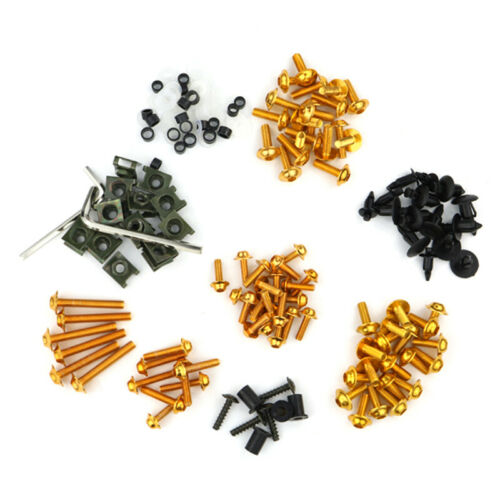 Complete Fairing Bolt Kit Screw Fit For Kawasaki Versys-X 250//300 650 1000 Gold