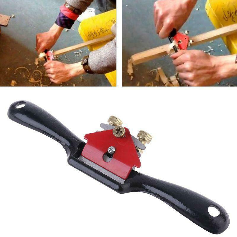 44mm Adjustable Wood Carving Tools Metal Blade Spoke Shave Hand Wooden Plane Woodworking Deburring Hand Tools for Carving Wood