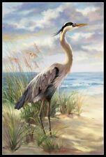 Naturalist Audubon Bird Blue Heron Counted Cross Stitch Chart Pattern