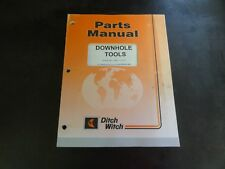 Ditch Witch Downhole Tools Parts Manual 09pl 0105 053 450