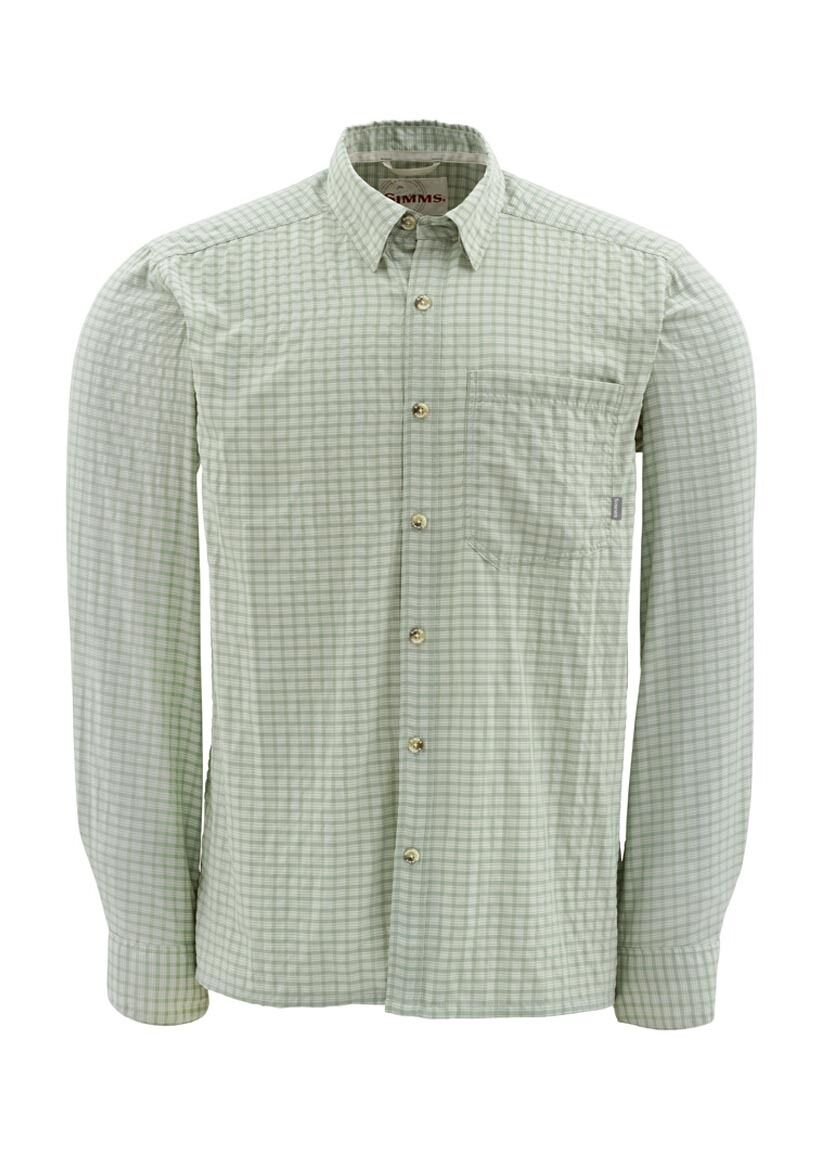 Simms MORADA Long Sleeve Shirt   Turtle Grass Plaid NEW  Closeout Size Small  hastened to see