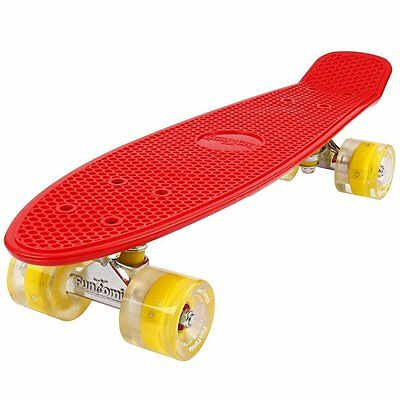 Mini-Board FunTomia® (LED) Skateboard Cruiser Kinderboard board ABEC-11 Tasche