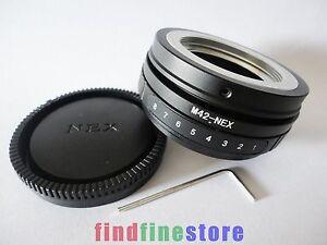 Tilt-M42-Lens-to-Sony-E-adapter-NEX-3-NEX-5-NEX-6-NEX-7-VG10-FREE-TRACKING-NO