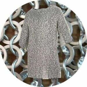 MEDIEVAL-KNIGHT-Chain-mail-9-mm-Aluminium-Round-Riveted-Chainmail-For-Theatre