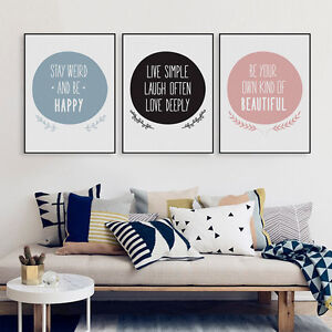 Image Is Loading 3PCS Love Quotes Art Print Poster Wall Picture