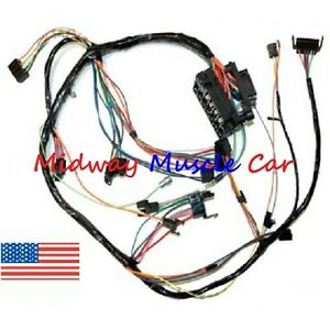 dash wiring harness with fuse block 68 69 chevy camaro | ebay 1966 chevy c10 wiring harness