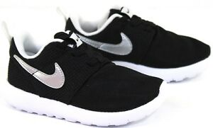 aa1755eb8dbf9 Children s Nike Roshe One TDV Black White Lace Up Trainers ...