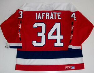 AL IAFRATE WASHINGTON CAPITALS CCM VINTAGE RED JERSEY NEW WITH TAGS ... 109a765226d