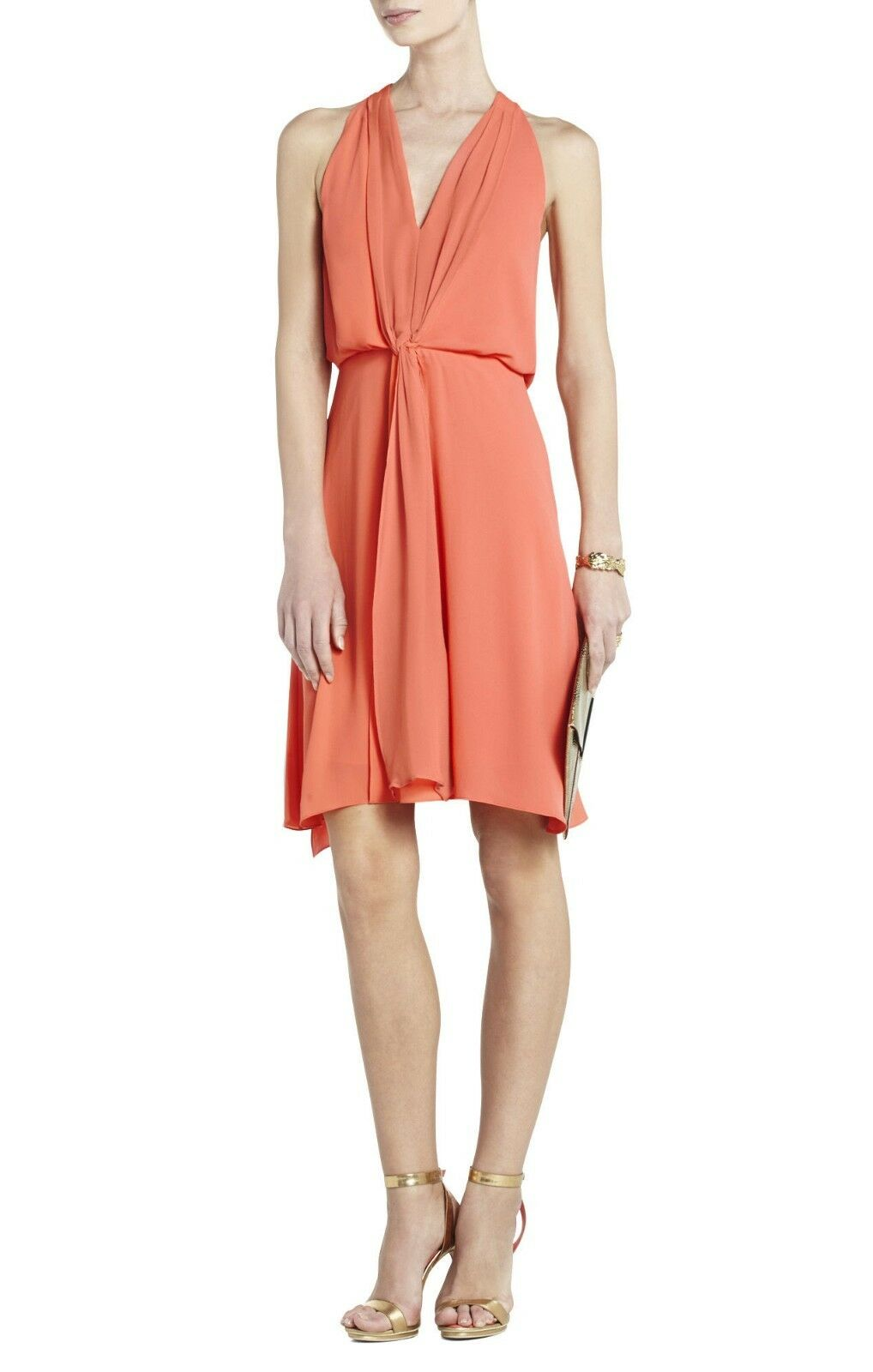 NEW BCBG MAX AZRIA AMBROSIA MARISA KNEE-LENGTH HALTER WQR6V916 M137 DRESS SIZE S