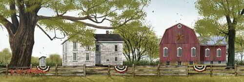 Sweet Summertime by Billy Jacobs Outhouse Print 24x8 Farm Old Barn