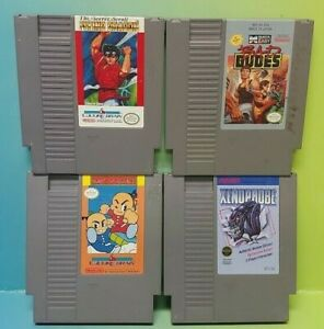 Nintendo NES Game Lot Tested Authentic Bad Dudes Aenophobe Dragon Kung Fu Heroes