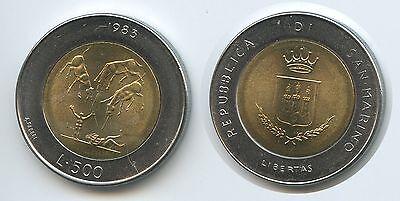 San Marino 500 Lire 1983 R Km#153 Nuclear War Threat Bimetall Strukturelle Behinderungen Bimetallmünzen 100% Wahr G1568