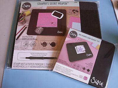 Lot Sizzix Stamper's Secret Weapon Original Stamping Piercing Mat & Mini Mat