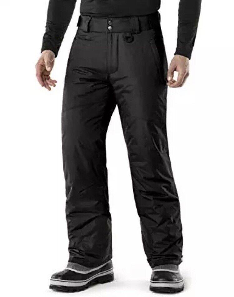 TM-YKB81-BLK_X-Large  Tesla Men's Rip-Stop Snow Pants Windproof Ski Insulated  fashion mall