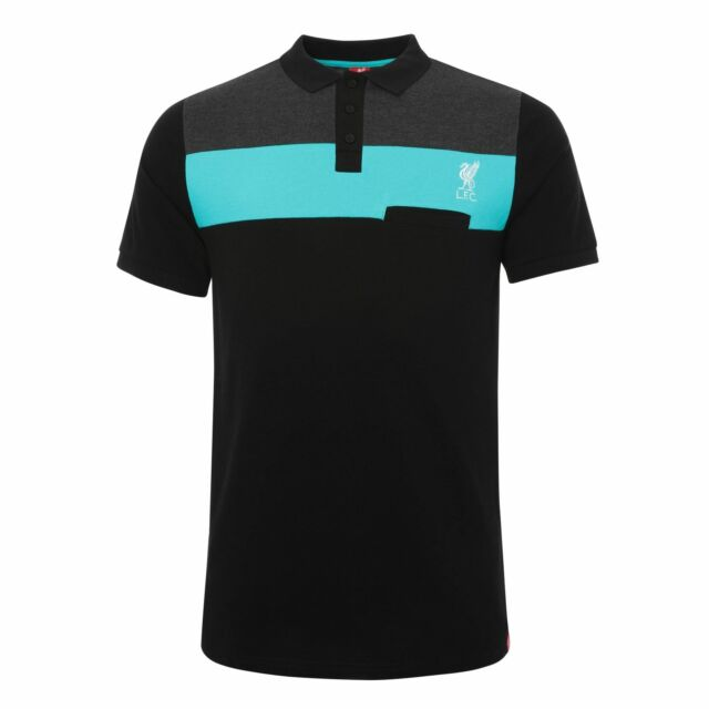 Liverpool FC Teal Mens Football NB Sportswear Polo T-Shirt LFC Official