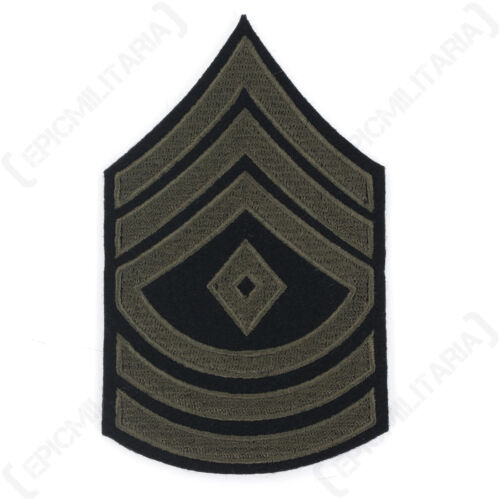 WW2 Repro Rank American Patch Badge Army SGT New First Sergeant Stripes Olive