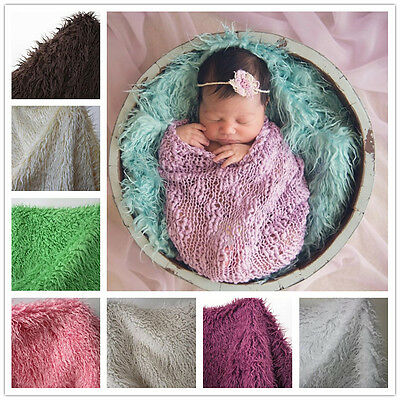 Mongolian Curly Faux Fur Mat Baby Blanket Rug Baby Photography Photo Prop