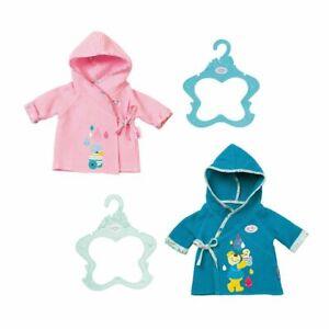 Baby-Born-Bathrobe-Bath-Robe-baby-Doll-Gown-for-43cm-Dolls-Zapf-Creation