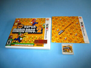 Details about New Super Mario Bros  2 Nintendo 3DS XL 2DS Game w/Case &  Manual
