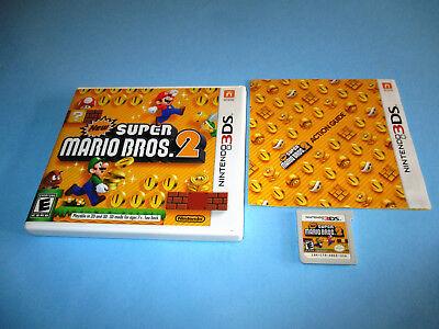 New Super Mario Bros 2 Nintendo 3ds Xl 2ds Game W Case Manual