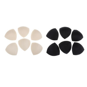 248a17054a 6 Pairs Women Triangle Foam Bra Insert Shaper Pads Push Up Beachwear ...