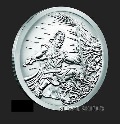 2017 Silver Shield BU Crucible Silver Round Mini Mintage w// CoA in airtite