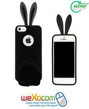 Rabito Bunny Rabbit Ear iPhone 5S 5 Black Cute Protective Gel Skin Cover Case