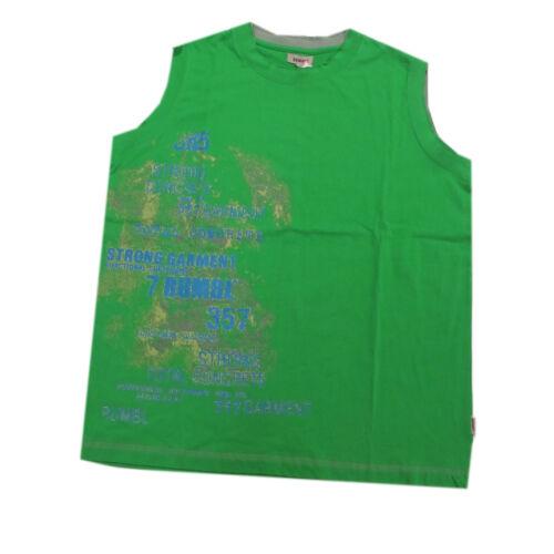 Rumble T-Shirt Top ärmellos Grün mit Motiv Jungen Baumwolle Sommer Gr.176