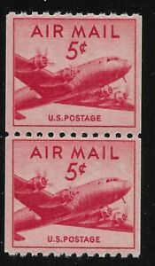 US-Scott-C37-PAIR-1948-Air-Mail-5c-VF-MNH